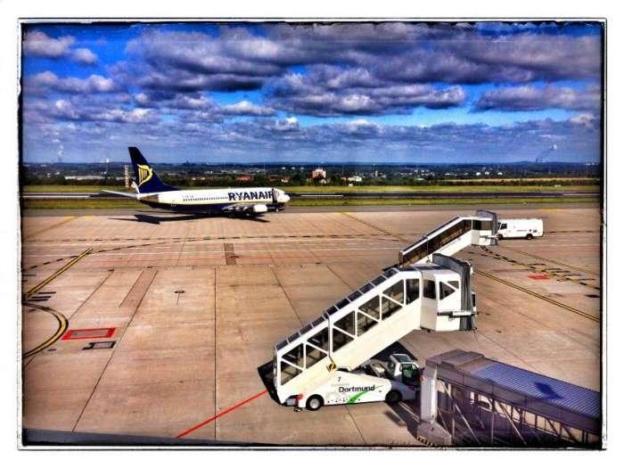 Ryanair-Maschine auf dem Rollfeld