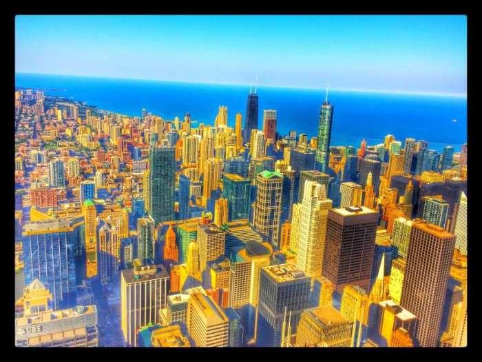 Blick auf Downtown vom Willis-Tower