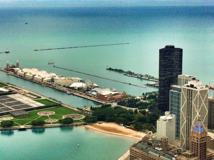 Blick von John-Hancock-Center auf das Pier