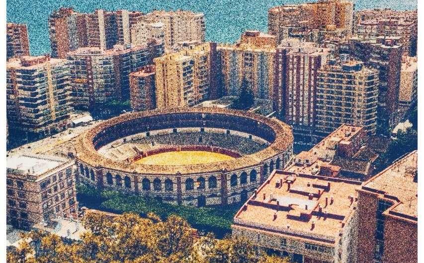 Die Stierkampf-Arena in Malaga