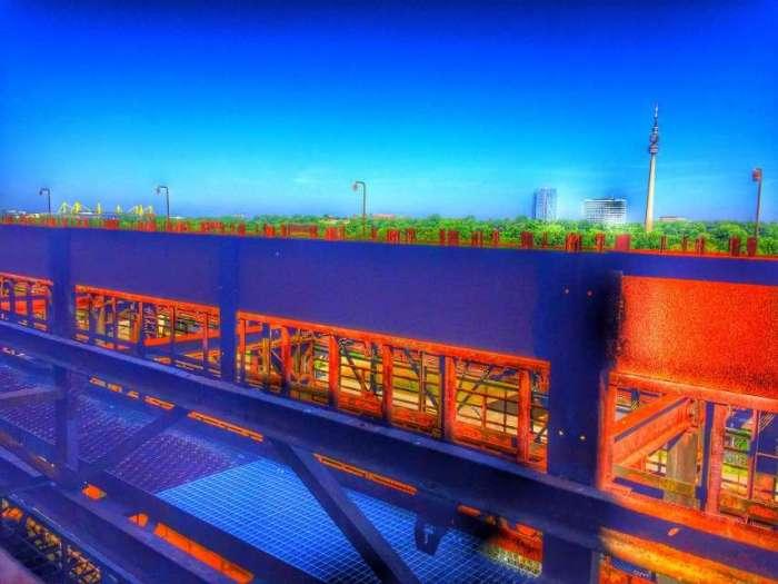 Blick vom Stahlwerk auf Dortmund