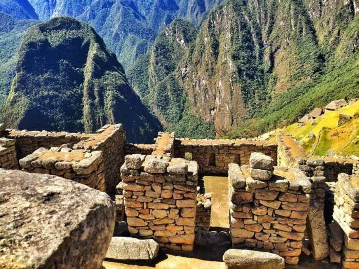 Die Ruinen in Machu Picchu