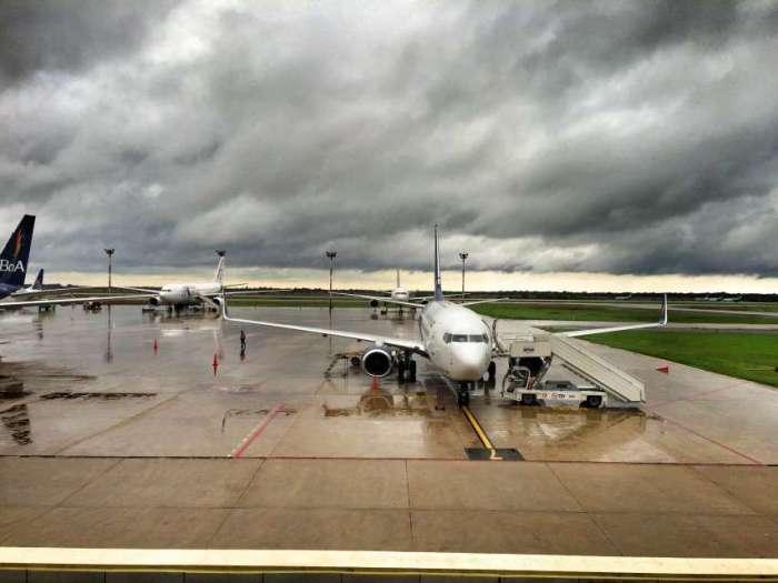 Flughafen in Santa Cruz in Bolivien