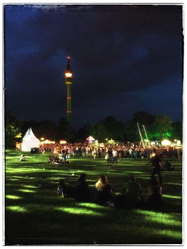 Westfalenpark im Dunkeln