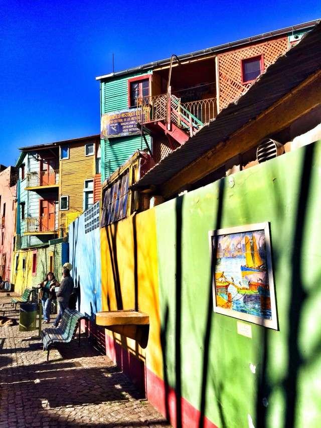 Bunte Häuser in La Boca