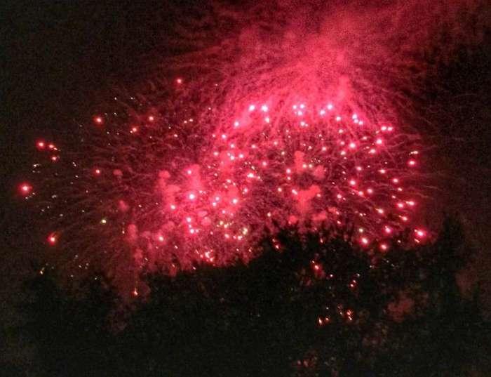 Das Feuerwerk ist der Höhepunkt des Lichterfestes