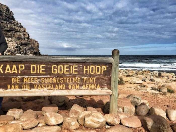 Schild am Kap der Guten Hoffnung - auf Afrikaans