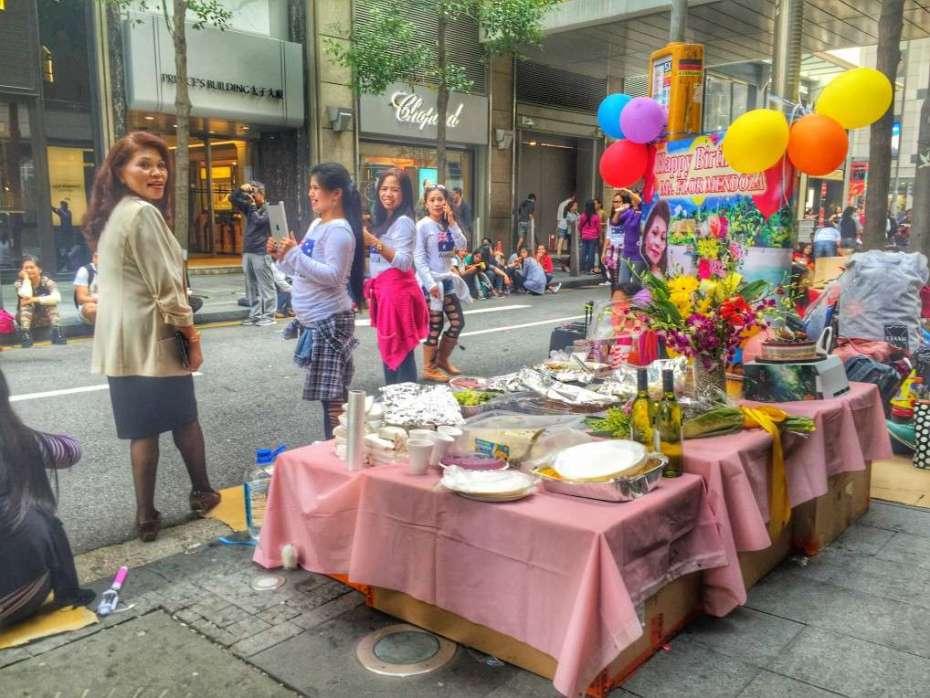 Sonntags feiern die Frauen in der City auch Geburtstage