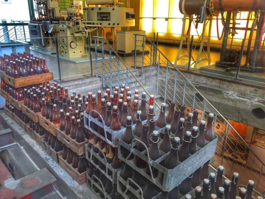 Alte Bügel-Bierflaschen