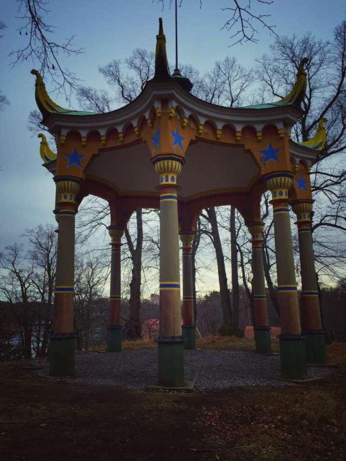 Chinesischer Pavillon im Park