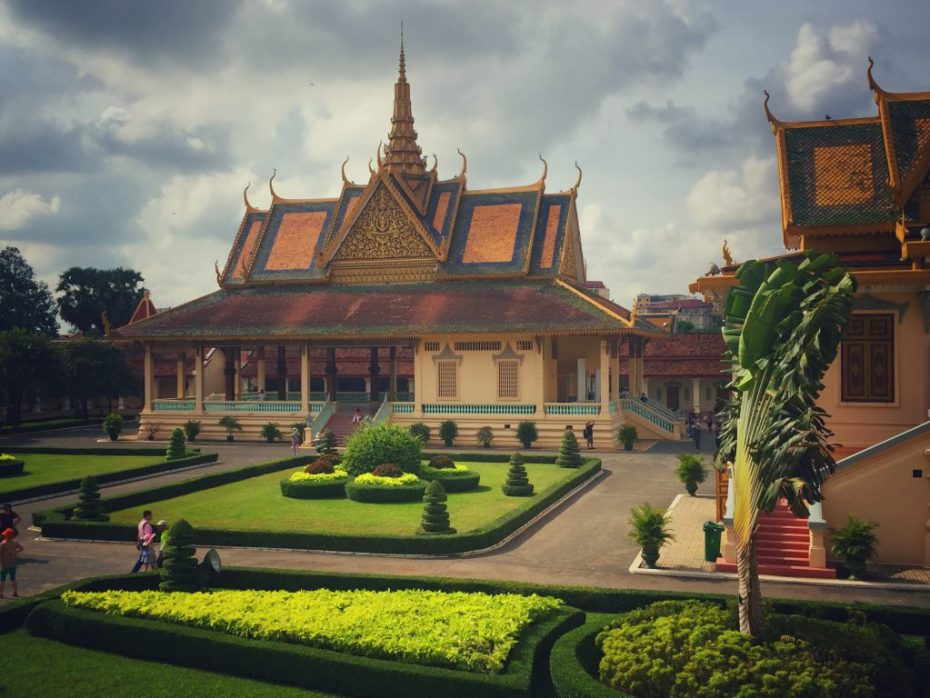 Silberpagode neben dem königlichen Schloss in Phnom Penh