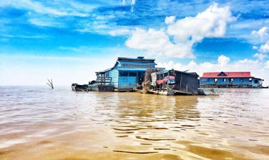 Schwimmende Dörfer in Kambodscha