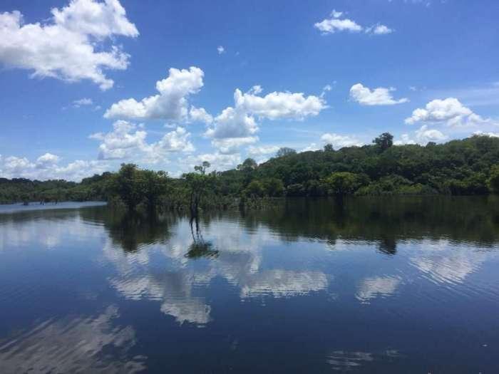 Ein Seitenarm des Amazonas