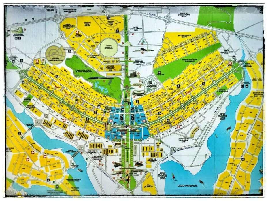 Der Stadtplan sieht aus wie ein Flugzeug