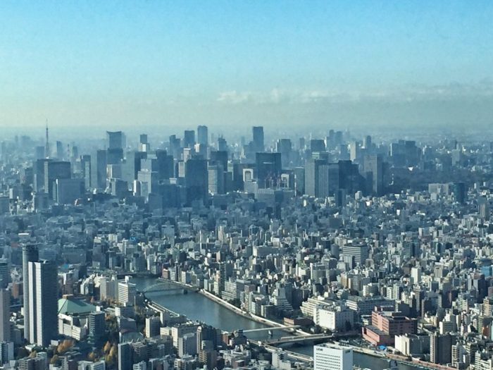 Blick vom Skytree