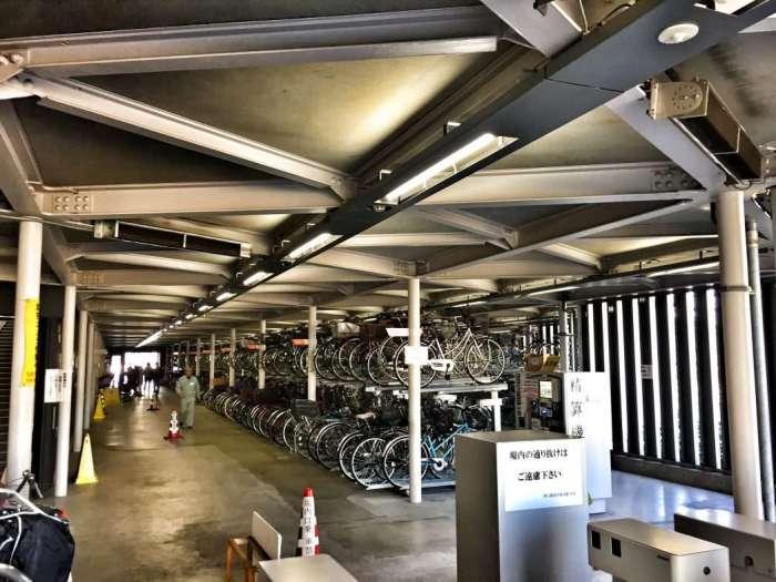 Fahrrad-Parkhaus am Skytree