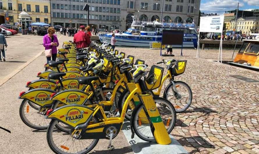 Mit dem Leih-Fahrrad durch Helsinki
