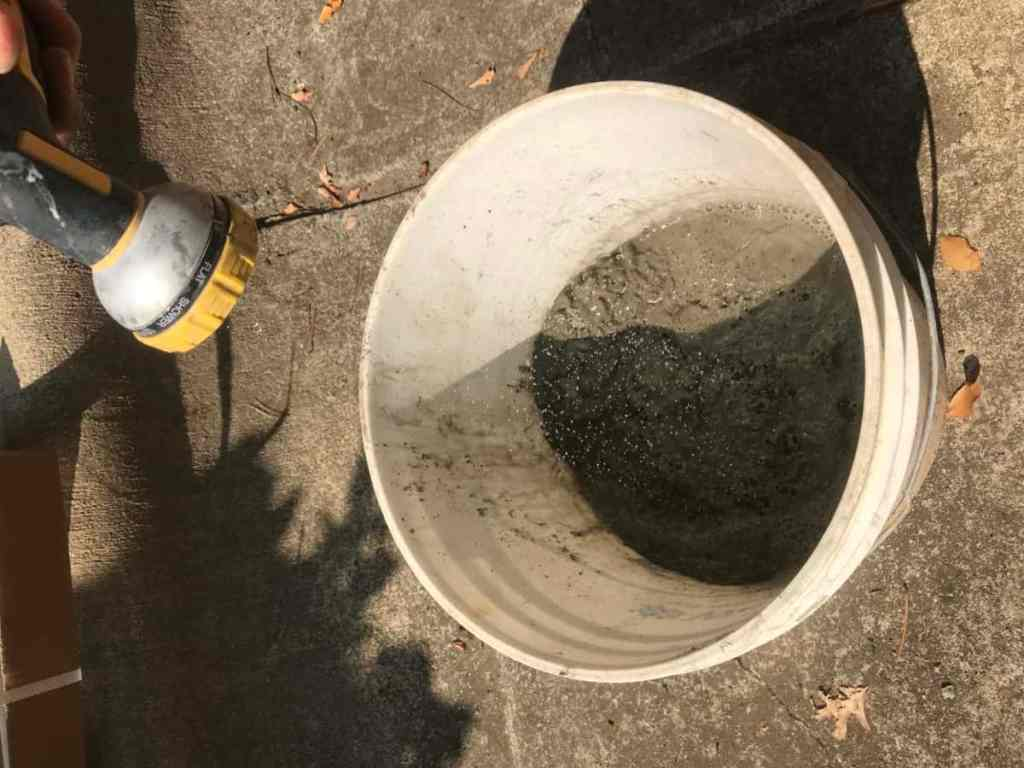 Add water to the cement and stir well. 10 easy steps how to make concrete pumpkins DIY