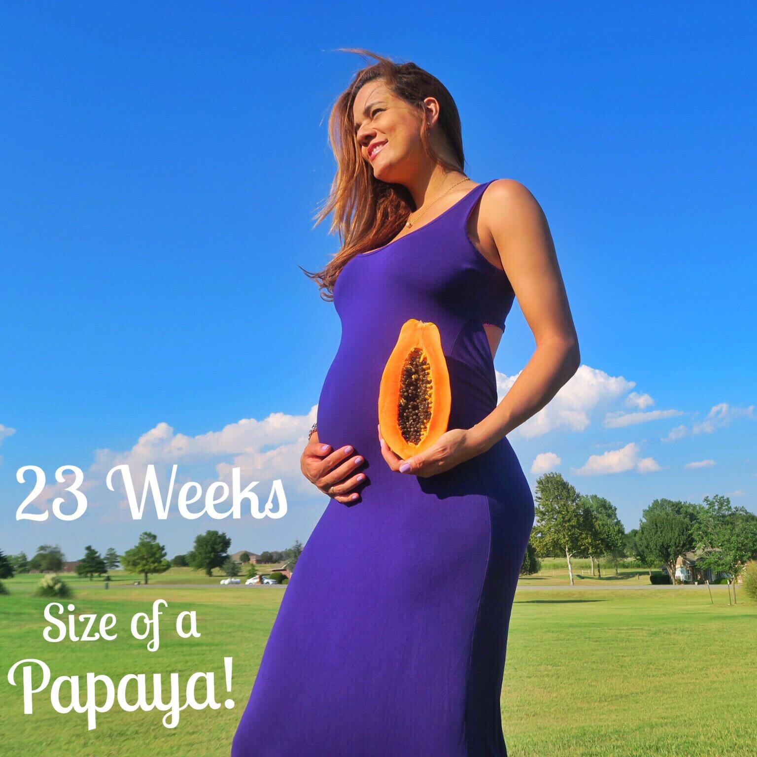 23 Weeks Pregnant – Size of a Papaya | Colorful Foodie