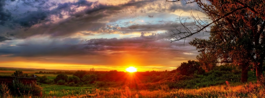 Colorfully Free Facebook Covers Beautiful Sunset