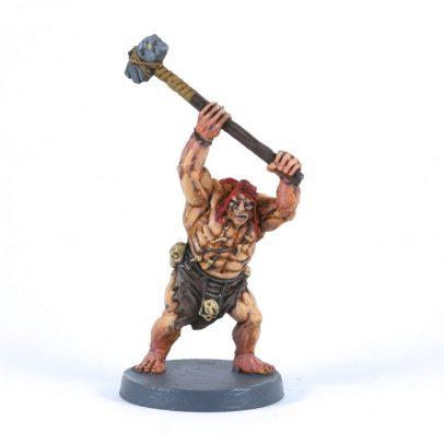 Guerrier Picte, base de Barbarian Flesh, shade Agrax, éclaircissements au pinceau. Effet rosé sur les bras et jambes avec un mélange de Carrobourg Crimson et de medium.