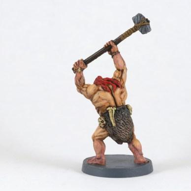 Vue de dos. Les os et crânes sont basé en Ushati Bone, puis assombri avec de l'Agrax et réhaussé à l'Ushati Bone.