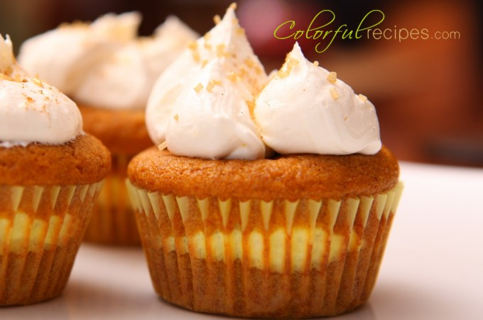 Pumpkin Cheesecake Cupcakes
