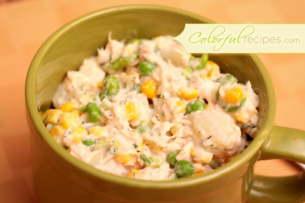 Tuna Potato Salad With Corn And Peas Colorful Recipes