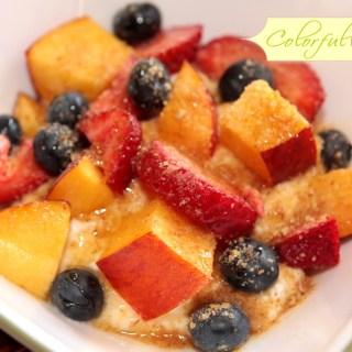 ricotta summer fruit colorfulrecipes.com