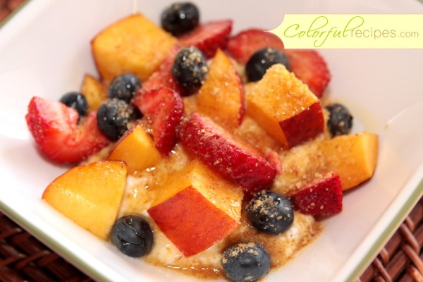 Ricotta Summer Fruit with Honey