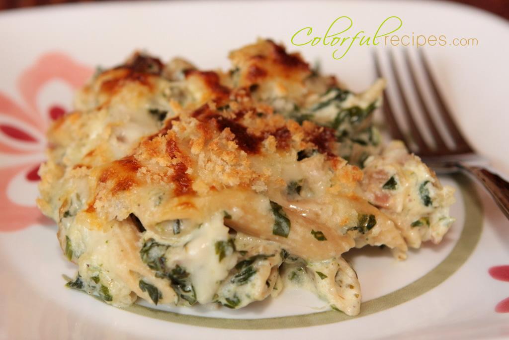 spinach chicken penne bake
