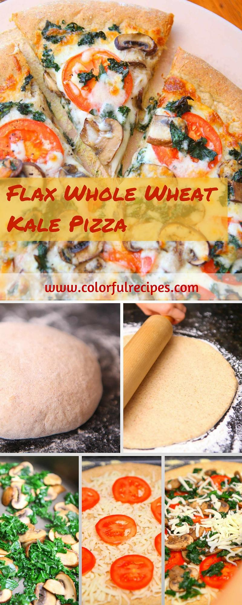 flax whole wheat kale pizza