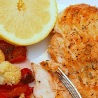 lemon cedar planked salmon