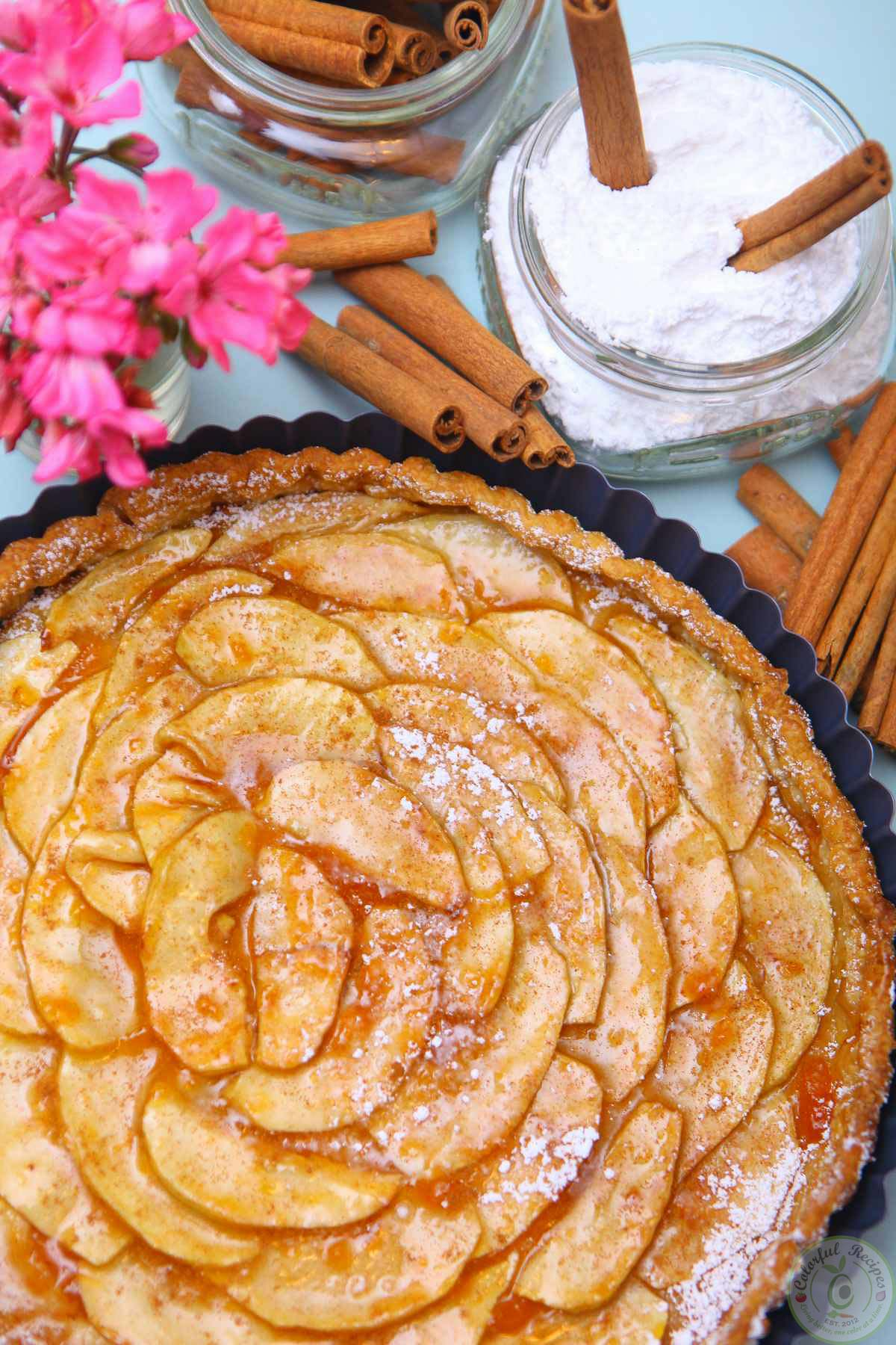 Easy French Apple Tart Colorful Recipes