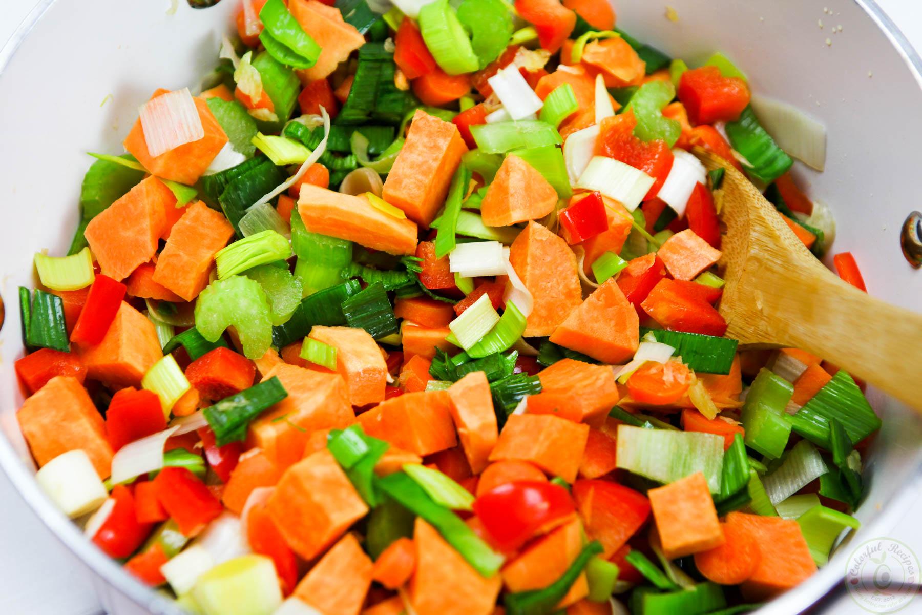 Detox Red Lentil Veggie Soup