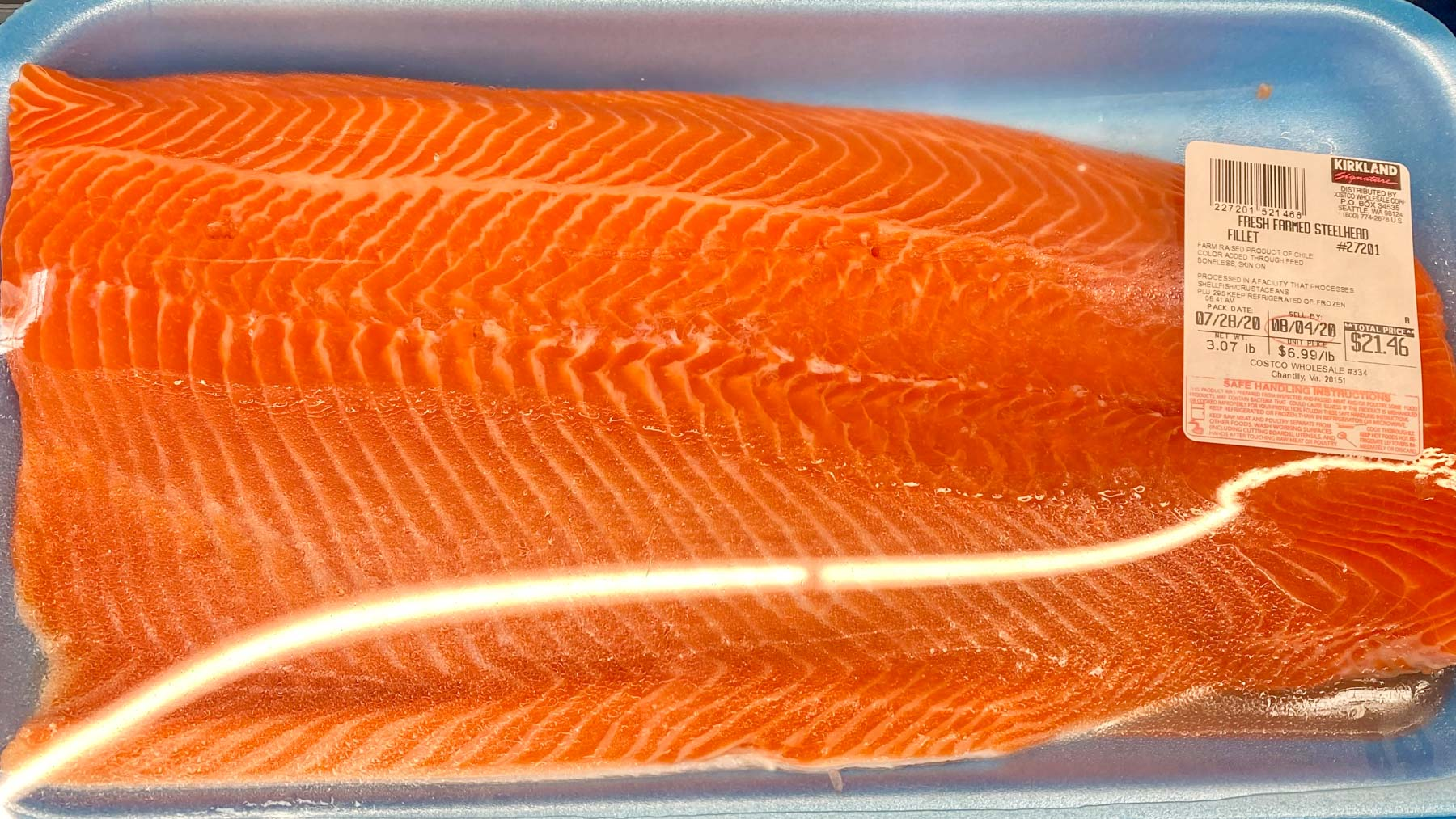 costco salmon from Chile raised with antibiotics