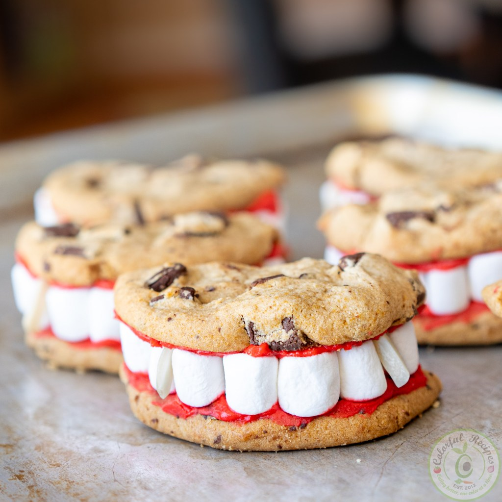 Vampire dentures easy halloween cookies