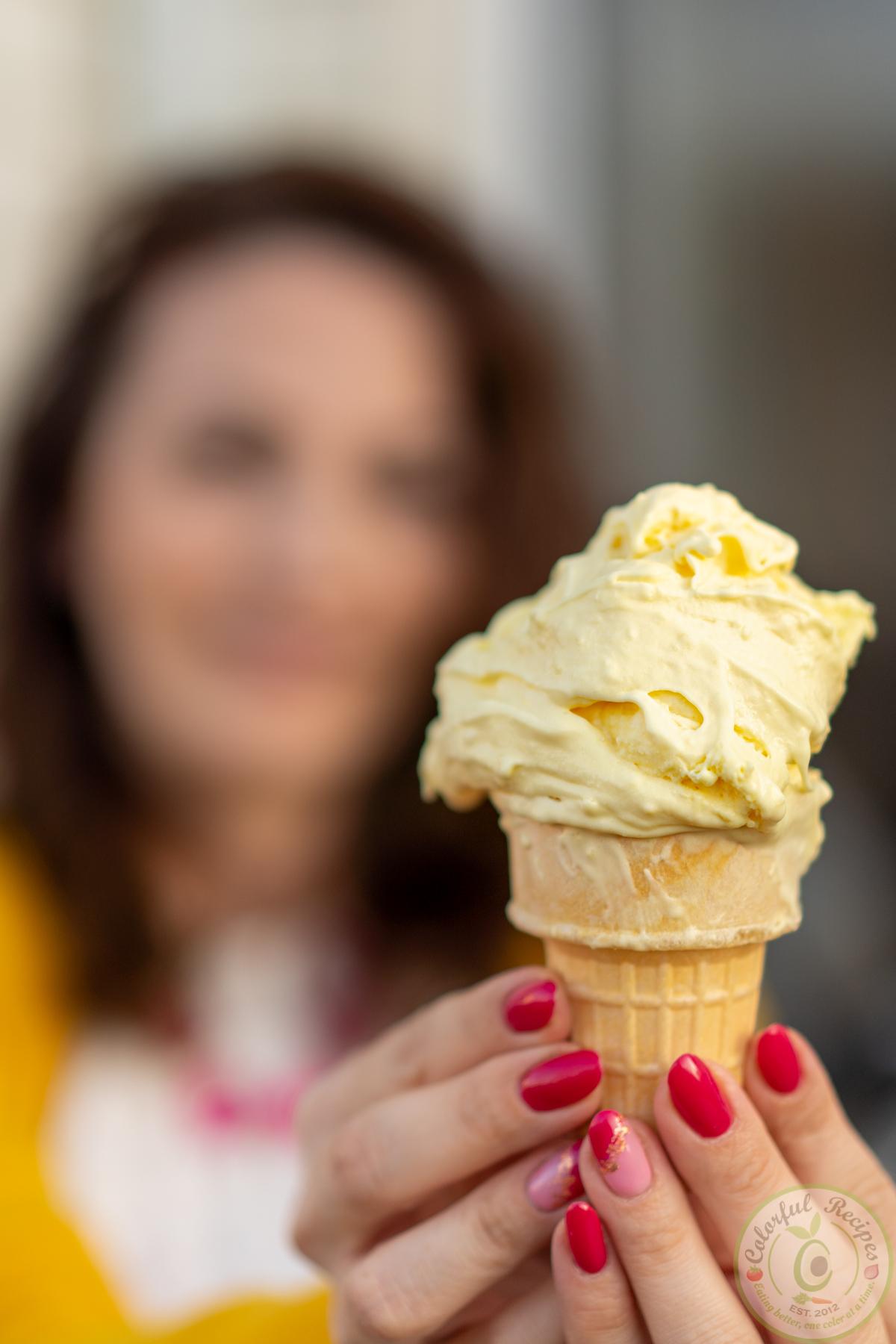 Ice cream zesty creamy stretchy