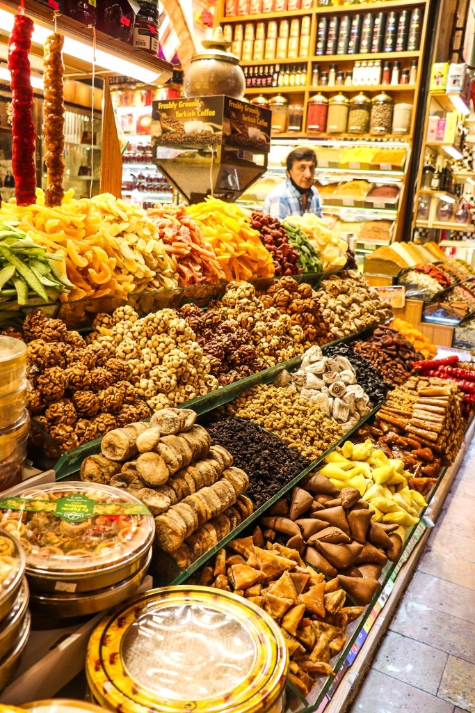Spices at the Spice Market, Istanbul. Grand Bazaar