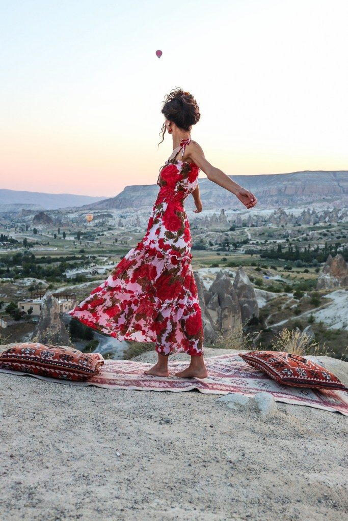 Handmade Dress at Cappadocia Hot Air Balloons Fashion Design