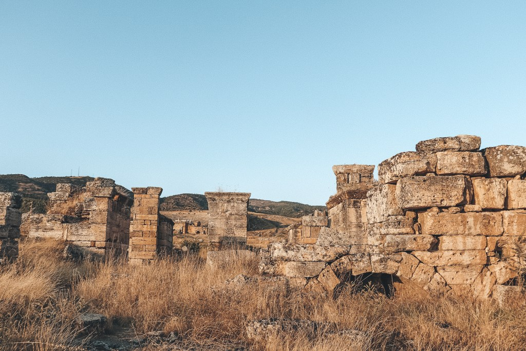Hierapolis Amphitheater Pamukkale Turkey