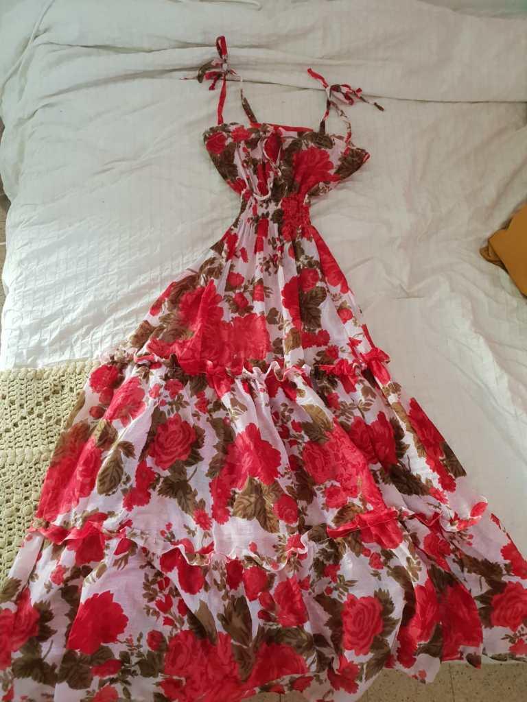 Handmade Floral Dress - Fashion Design