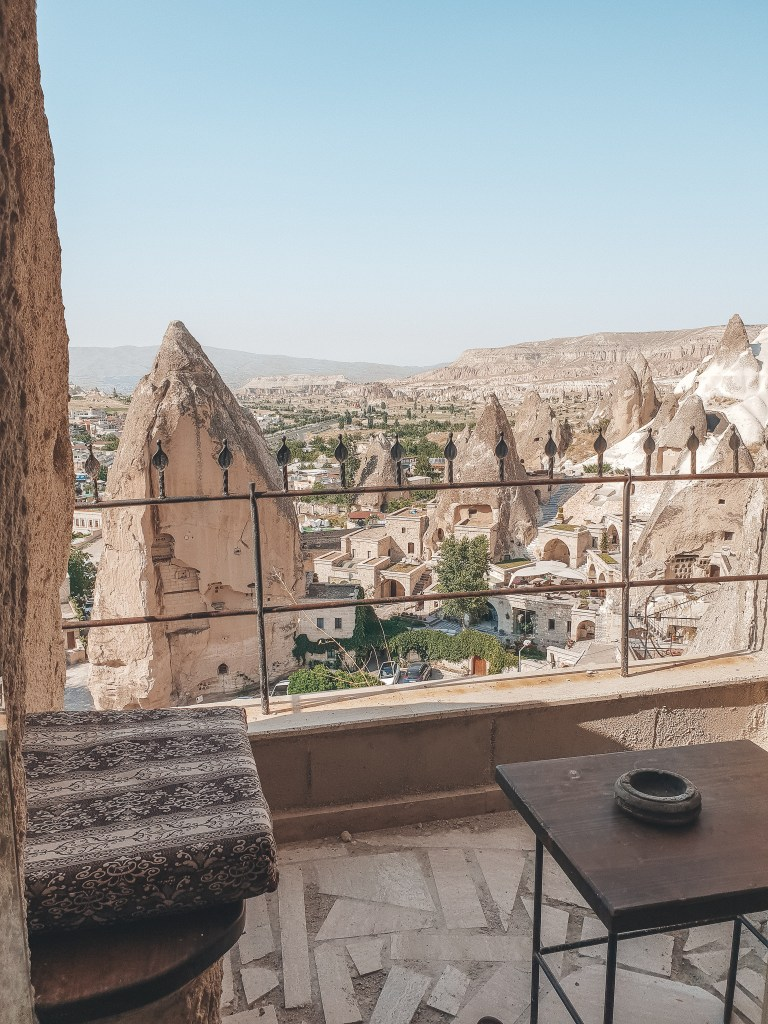 View of Goreme from Cave Hotel