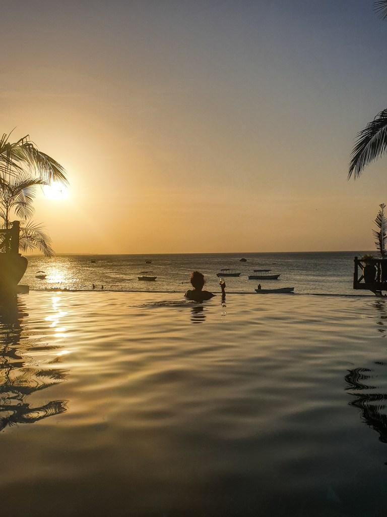 Sunset in nungwi, zanzibar
