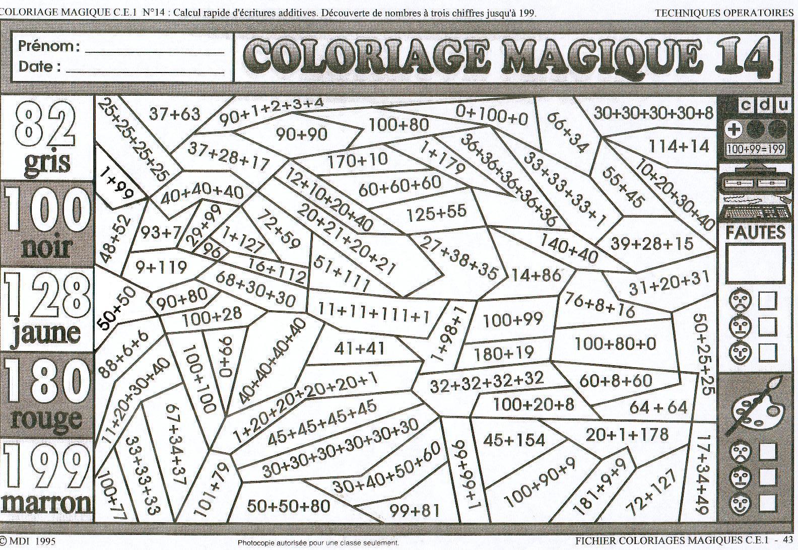 Coloriage Magique Noel Cm2 Imprimer Coloriage Imprimer