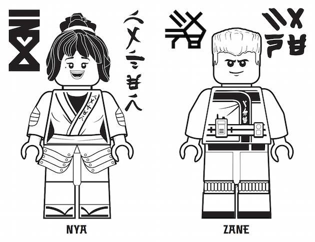 Coloriage Ninjago Nya A Imprimer Coloriage Imprimer