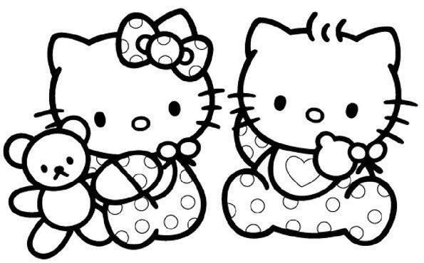 Coloriage Fille A Imprimer Hello Kitty Coloriage Imprimer