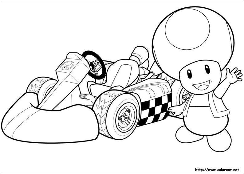 Coloriage Mario Kart 8 A Imprimer Gratuit Coloriage Imprimer