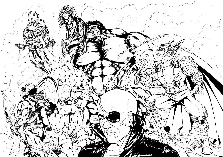 Coloriage A Imprimer Avengers Rassemblement Coloriage Imprimer