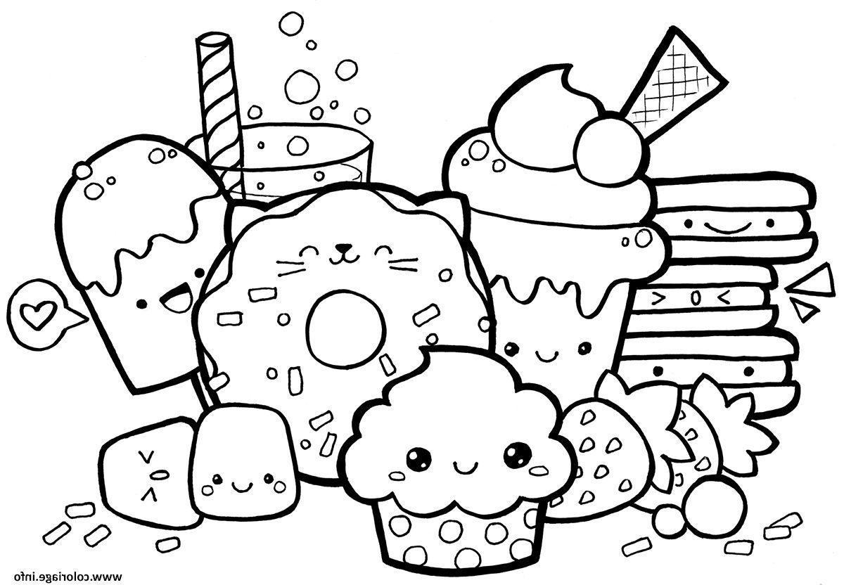 Coloriage à Imprimer Kawaii Nourriture - Gratuit Coloriage